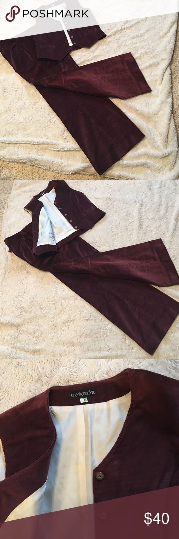 NWOT. Matching soft corduroy vest and pants Breckenridge two piece set.  Vest is lined.  Soft corduroy perfect for work or a semi casual night out. breckenridge Other