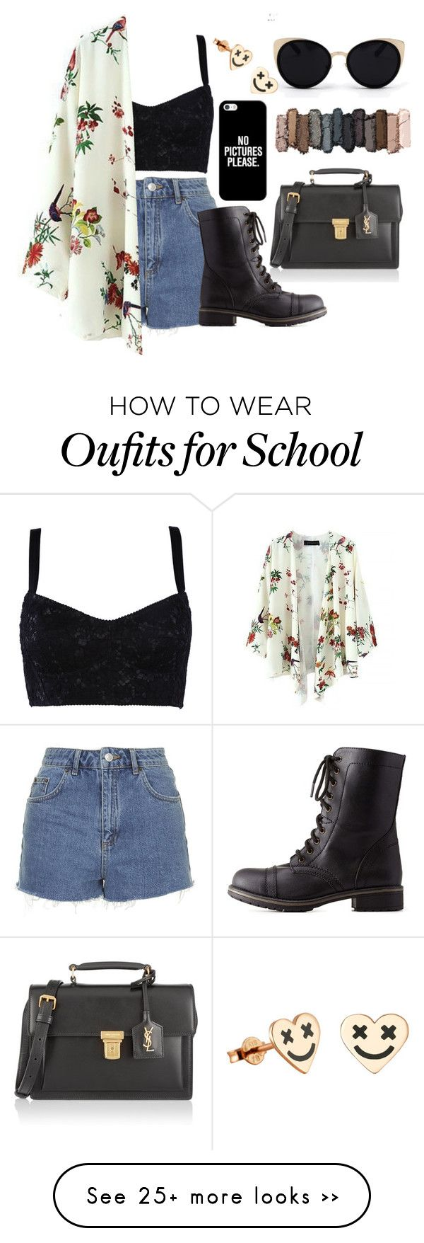 """""""#First Day Of School"""" by tinylittlebeth on Polyvore featuring Dolce&Gabbana, Topshop, Charlotte Russe, Yves Saint Laurent, Una-Home, Urban Decay and Casetify"""