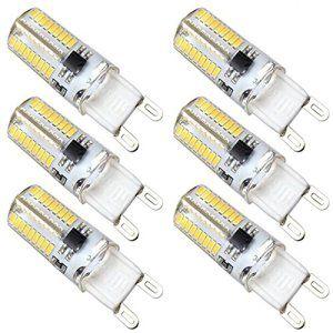 Kakanuo 6x G9 Ampoules LED Non-Dimmable 4W 3000k 72 SMD3014 Blanc Chaud AC220-240V Ampoule Lampe Spot LED Lumière 300LM [Classe énergétique…