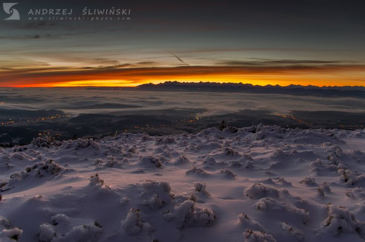 View from the top of Babia Góra, Beskidy Mountains, Poland.