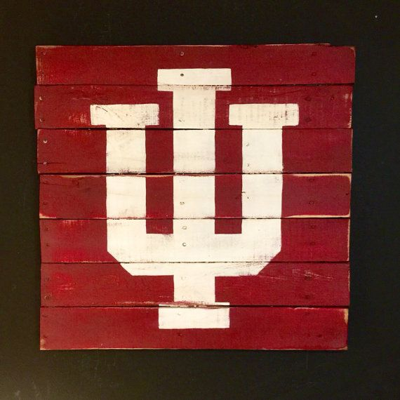 Indiana Hoosiers Sign / University of Indiana by PalletsandPaint