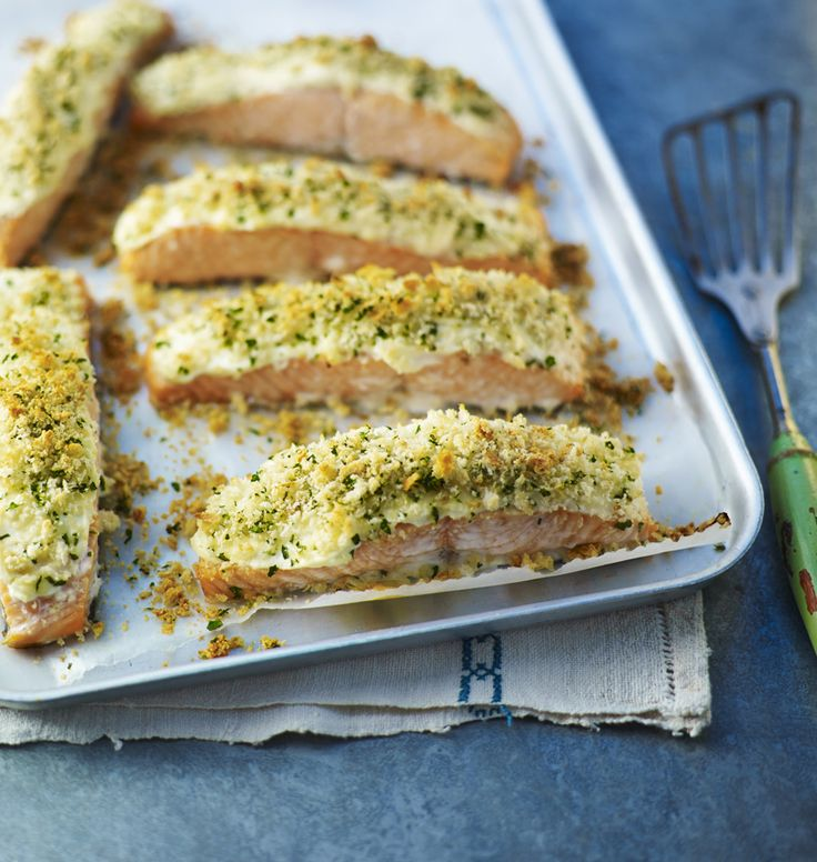 Mary Berry's foolproof recipe for easy baked salmon with a luscious crunchy parmesan crust(Christmas Bake Savoury)