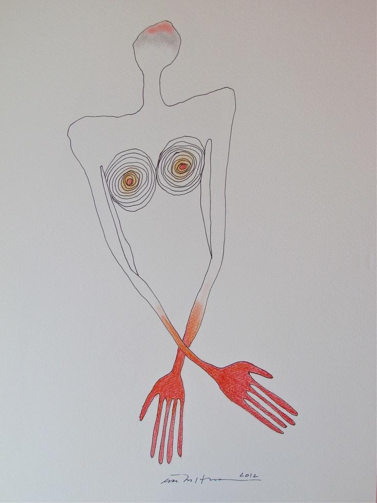 Åse Margrethe Hansen. Drawing, 2012