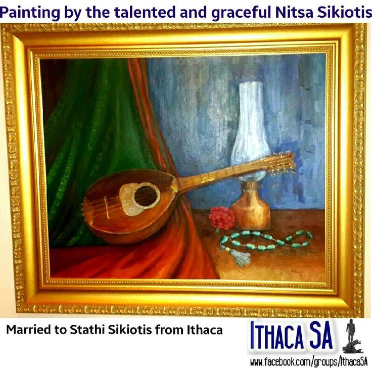 Painting by Nitsa Sikiotis Ithaca, Greece