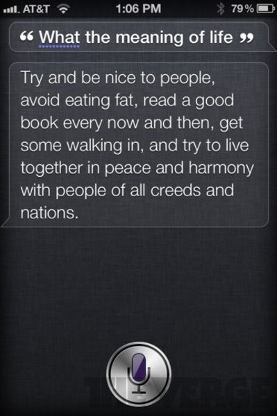 """iOS's Siri """"shocking answer"""" part 3. When she knew the answer for the hardest question ever...."""