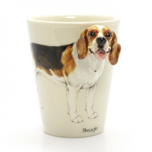 Crafts For Dog Lovers: Beagle Dog Lover 3D Head Handle Mug Coffee Cup Handmade