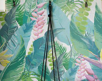 Tropischen Aquarell Blätter Muster abnehmbare von WallfloraShop