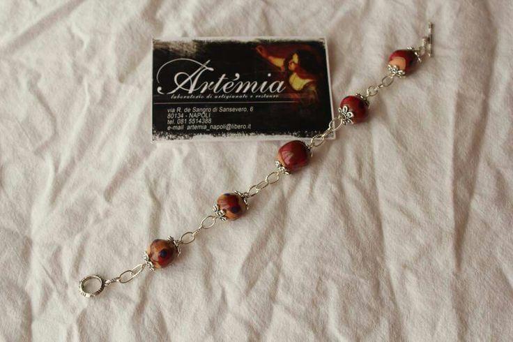 Bracciale #monili #terracotta #perle #artigianato