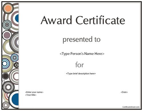 Best Certificates Images On   Certificate Template