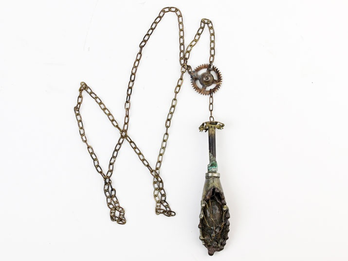 Shell and crystal necklace  Gothic art  http://heavenscafe.net/?mode=grp=176750