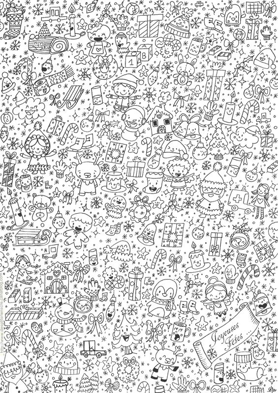 Comment Faire Un Coloriage Anti Stress.Coloriage Anti Stress Noel Gratuit