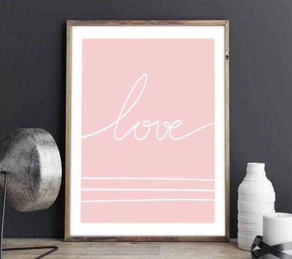 Love lamina decorativa poster decoraci n dormitorio love palabra decoraci n regalo para ella - Poster decoracion ...