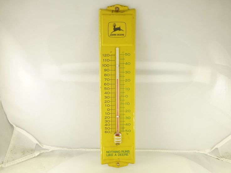 Vintage John Deere Advertising Wall Thermometer Nothing Runs Like a Deere USA #JohnDeere #vintagejohndeere #vintageadvertising