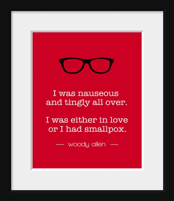 Quotes About Love: Typography Print-Quote Print-New York-Movie Quote-Woody