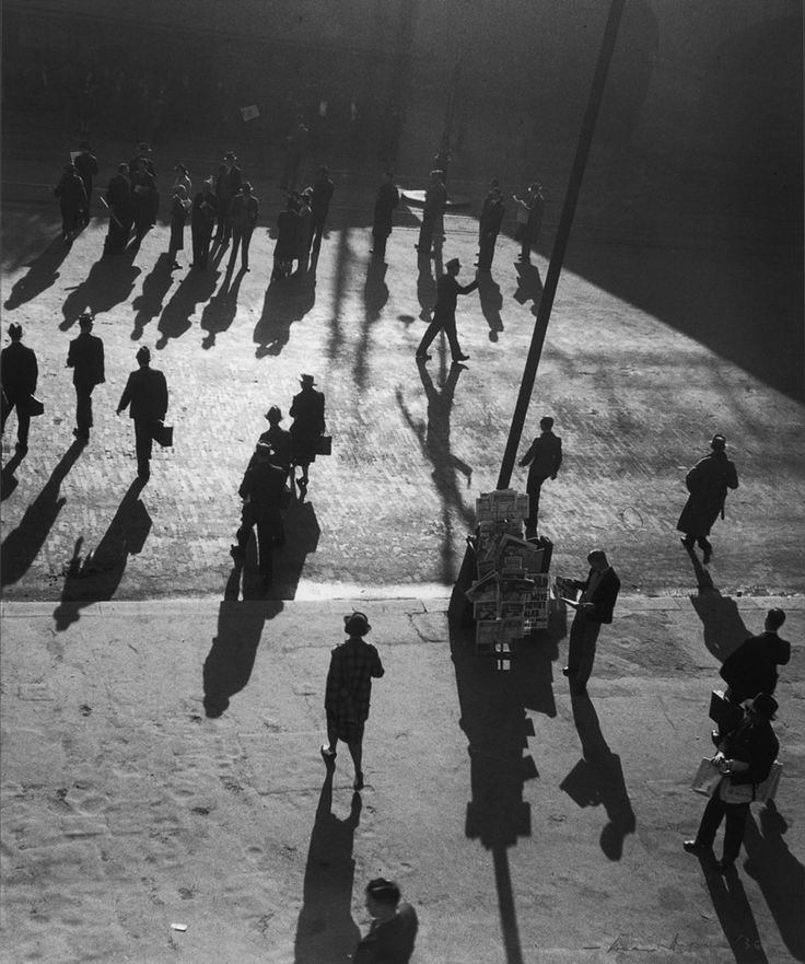 Max DUPAIN. Street at Central  1938, gelatin silver print, 45.5 x 37.9 cm. Monash Gallery of Art, City of Monash Collection acquired 1991.