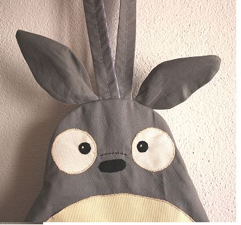 Mochila de tela Totoro: The Tela, Tela Totoro, De Ideas, Sombrero De, Canvas Backpacks, Mochila De, Backpacks Totoro, Diy Kids, Bags Ideas