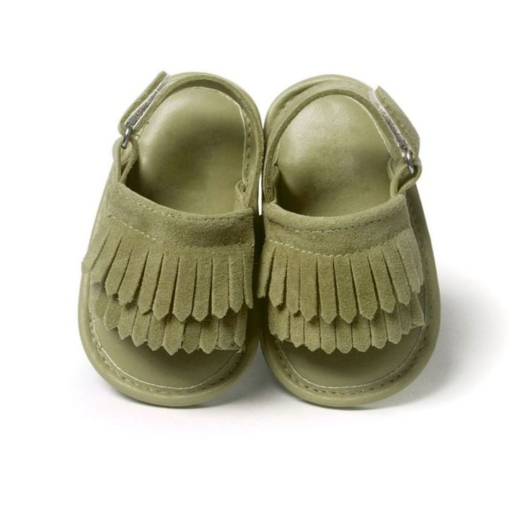 Baby girls summer sandals shoes ocio sandalias de bebé de la pu de la borla