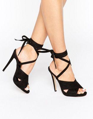 Truffle Tie Ankle Rita Heeled Sandals