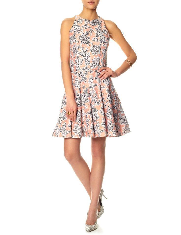 Peach Floral Pleated Dress | Thakoon | Avenue32