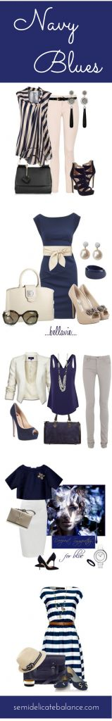 Navy Blue Outfits - love every one!