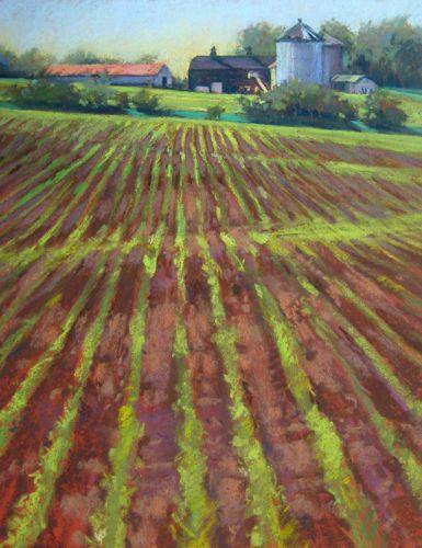 Rogers Farm 2 Landscape Pastel Painting by Jill Stefani Wagner   www.jillwagnerart.com