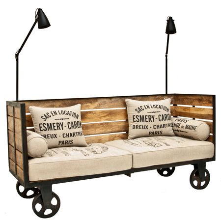 Factory Day Bed - This is a superbly different and individual statement piece that will be the focal point of any room.
