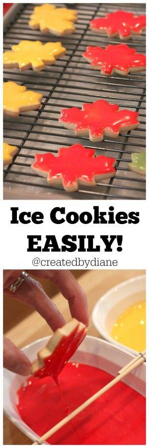 Ice Cookies EASILY @createdbydiane