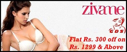 Flat Rs. 300 off on Rs. 1299 & Above from Zivame - Great Deal Store