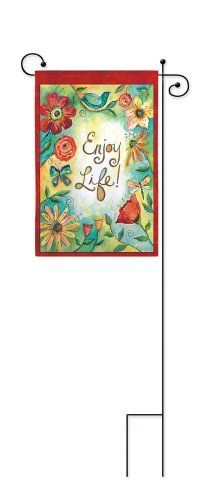 Scroll Garden Flag Stand by House-Impressions. $8.49. Fade-resistant. Easily displays your favorite garden flag. Metal. Your garden flag needs a stand, and why shouldn't that stand add to the beauty waving in the wind?