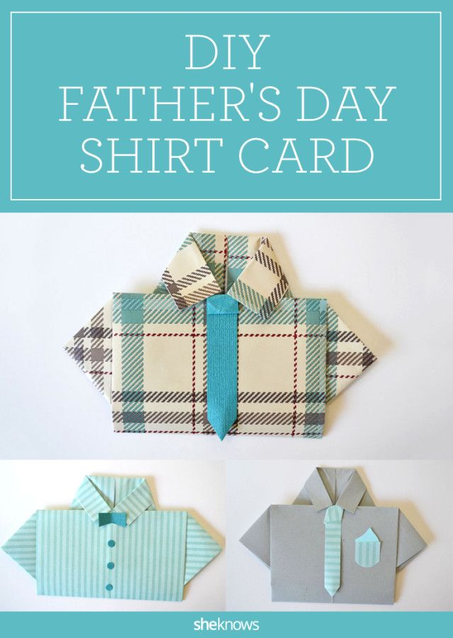 These adorable homemade Father's Day cards shaped like mini dress shirts are cute enough to frame