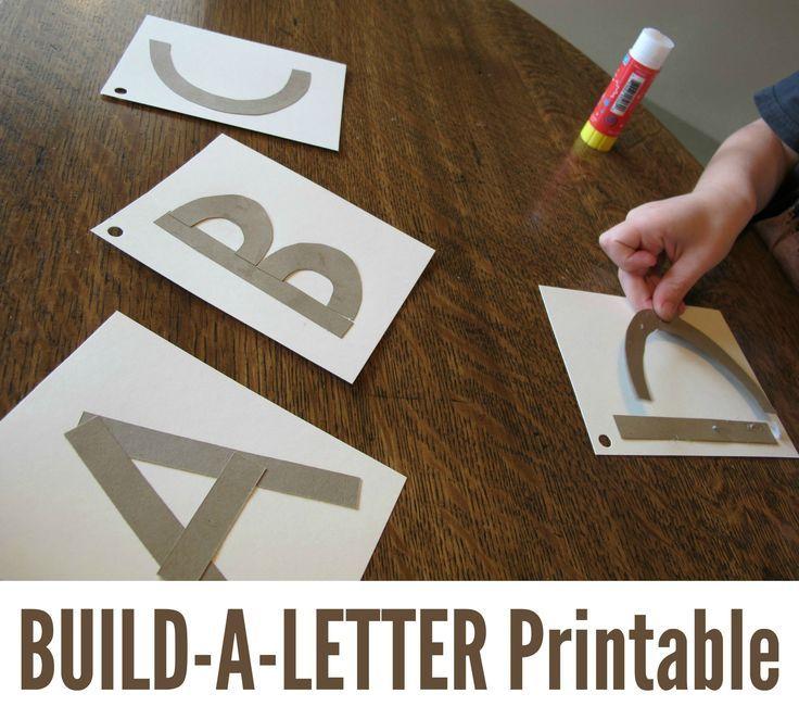 Build a Letter Multisensory letter formation printable