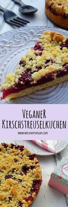 Leckerer easy-peasy veganer Kirschstreuselkuchen