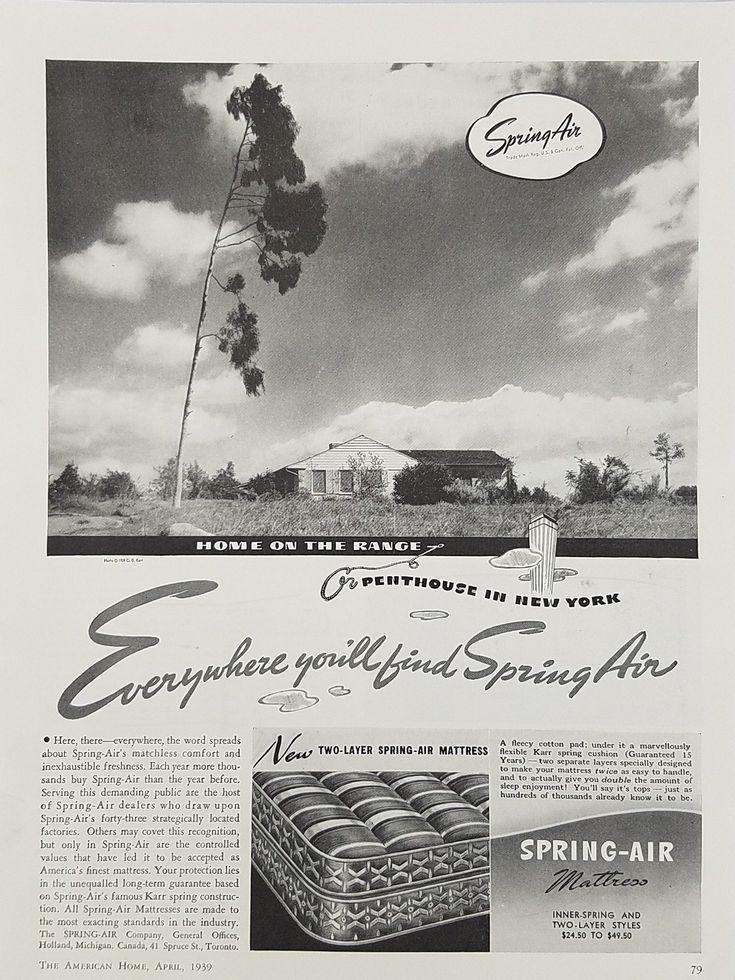 1939 Spring-Air Mattress Vintage Ad