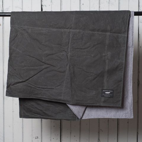 Summer Blanket | Gray Waxed Cotton / Soft Grey Twill – 18 Waits