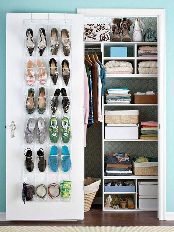 Schoenen opbergen: schoenen-ophangen-deur