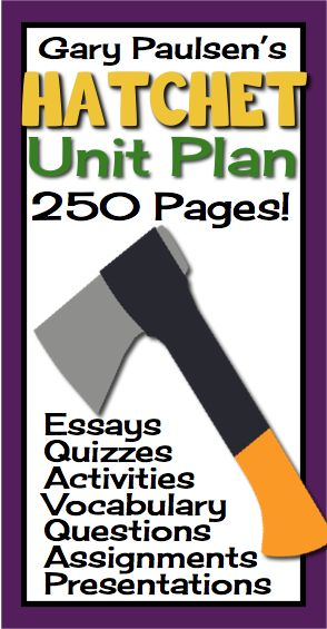 Welcome to the Canadian wilderness! This unit plan has everything you will need to teach Gary Paulsen's award-winning novel Hatchet. With over 250 pages/slides of eye-catching PowerPoint presentations, printable assignments, questions, vocabulary, and interactive class activities, you will have everything you need!