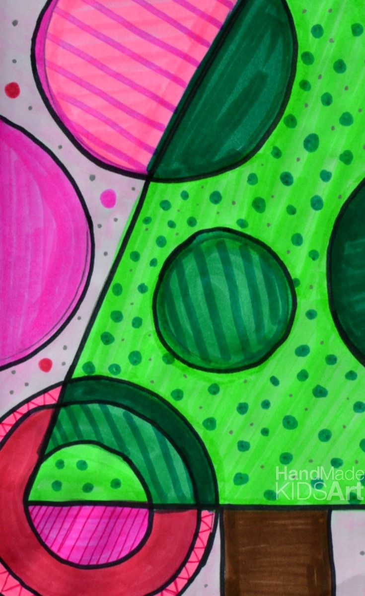 STEAM Christmas Art Projects for Kids: Mix art and math to learn about concentric circles with this fun and bright (easy) Christmas art project for kids