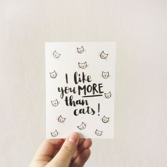 I+like+You+More+Than+Cats+Valentines+Day+Card+//+by+amythomasart
