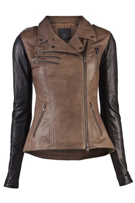Veda Supreme Two Tone Leather Jacket