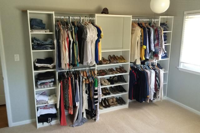 These 23 IKEA BILLY bookcase hacks share how you can transform your home with customized storage that fits your space, style, and budget.: BILLY Closet Hack