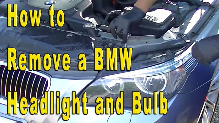 How To Remove BMW 5 Series Headlight / Bulb Replacement