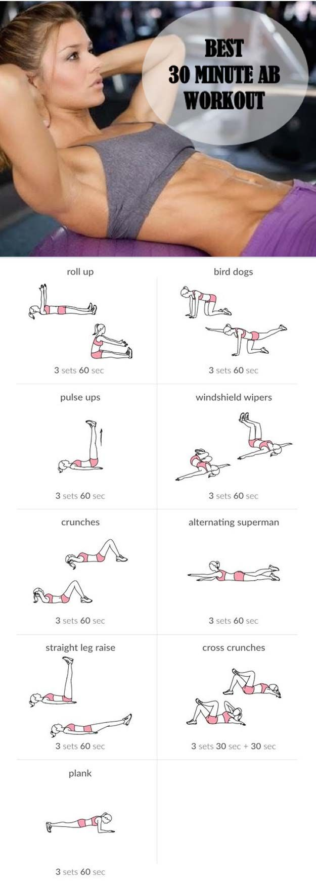 Best Exercises for Abs - Ab Workout - Best Ab Exercises And Ab Workouts For A Flat Stomach, Increased Health Fitness, And Weightless. Ab Exercises For Women, For Men, And For Kids. Great With A Diet T