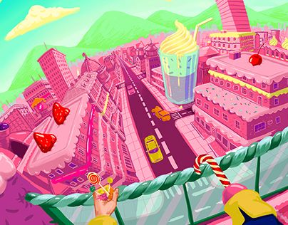 """Check out new work on my @Behance portfolio: """"Cakeville """" http://be.net/gallery/32819607/Cakeville-"""