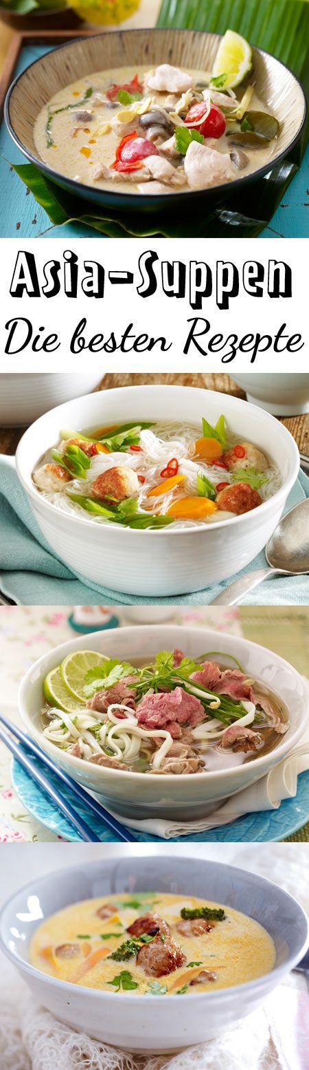 Eine gute Brühe, aromatische Gewürze und als Einlage Fleisch, Fisch, Tofu, knackiges Gemüse, Reis, oder Nudeln - Asia-Suppe wird nie langweilig.