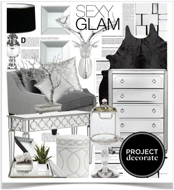 """""""Project Decorate: Sexy Glam With Honey We're Home"""" by pisces7 on Polyvore"""