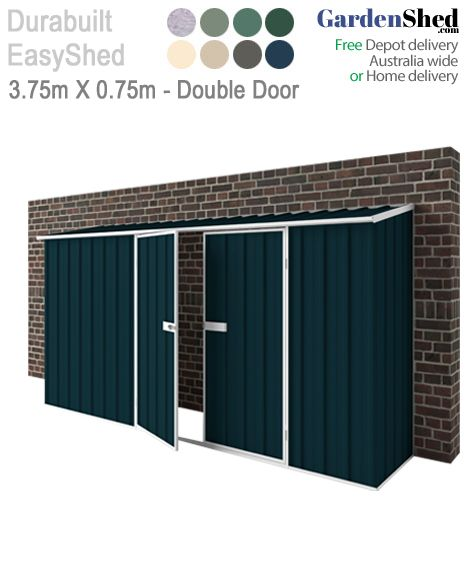 Garden Shed 'Off the Wall'. This shed comes with no back wall so easy to fix to an existing wall. Select extra height or sliding doors as an option.