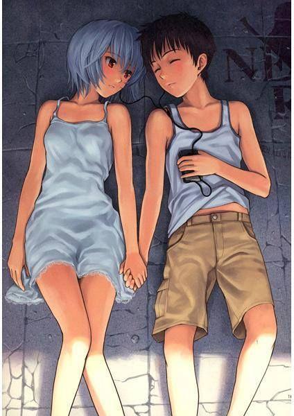 Rei and Shinji || Evangelion