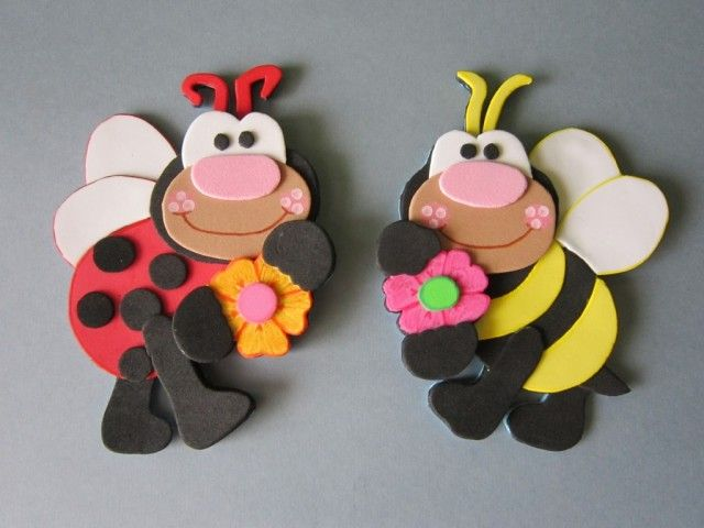 41 best images about broches de goma eva on pinterest - Broches para manualidades ...