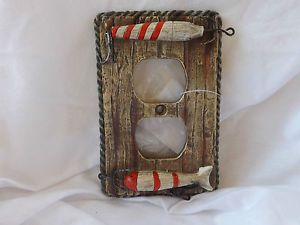Lake House Decorating Items | Lodge Rustic Cabin Lake House Decor Fishing Lure Wall Outlet Switch ...