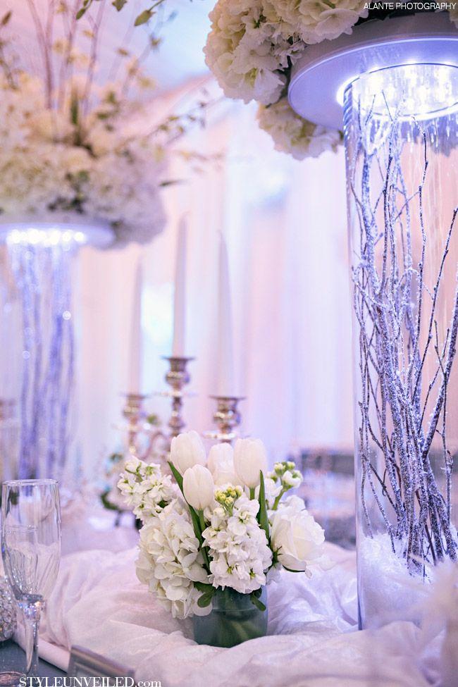 Style Unveiled - Style Unveiled   A Wedding Blog - Elegant White and Blue Wedding TablescapeIdeas! @Alante Photography
